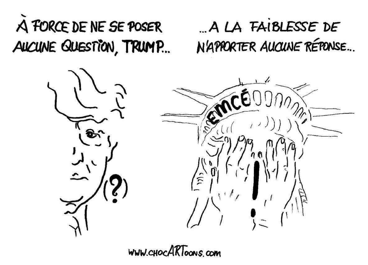 TRUMP N'A PAS DE RÉPONSE