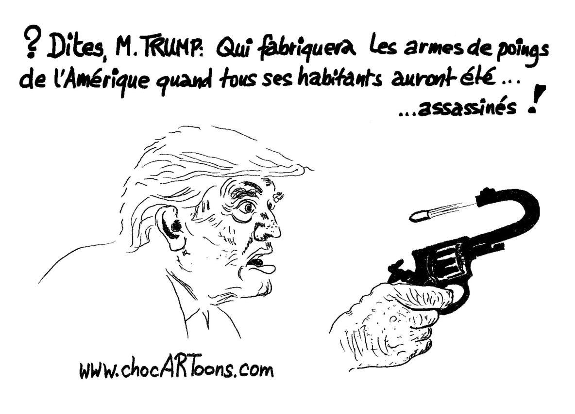 Donald TRUMP avec arme