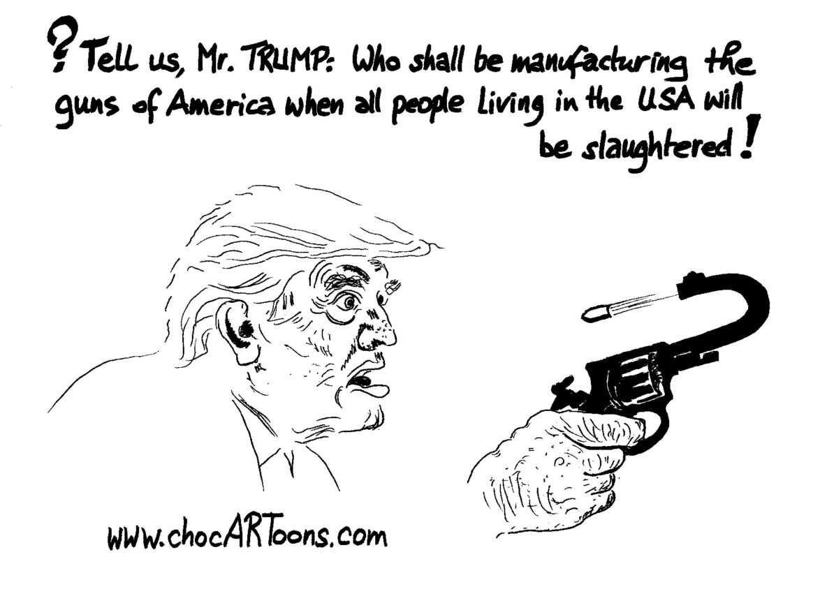 Donald TRUMP with a gun