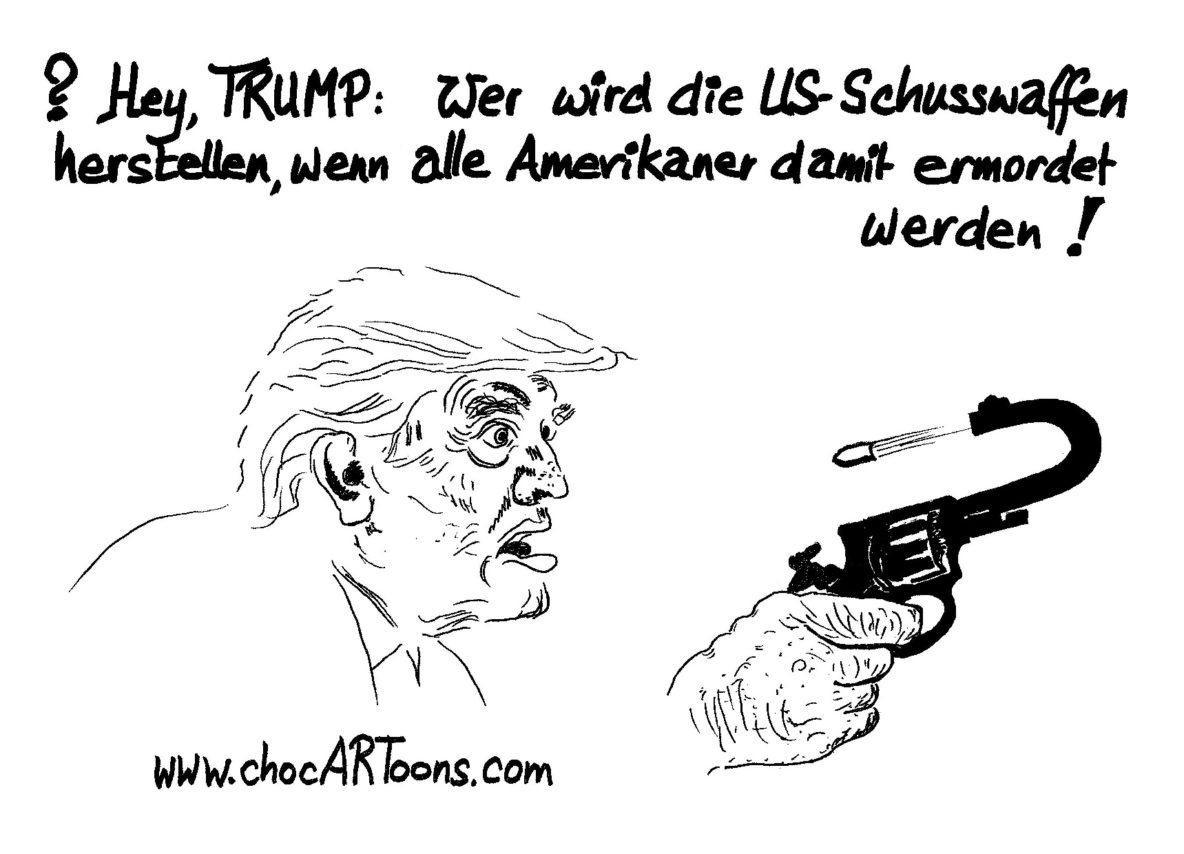 Donald TRUMP mit Pistole
